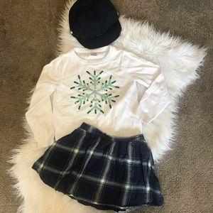 Gymboree | Gap | Plaid Snowflake Sweater Outfit 5t